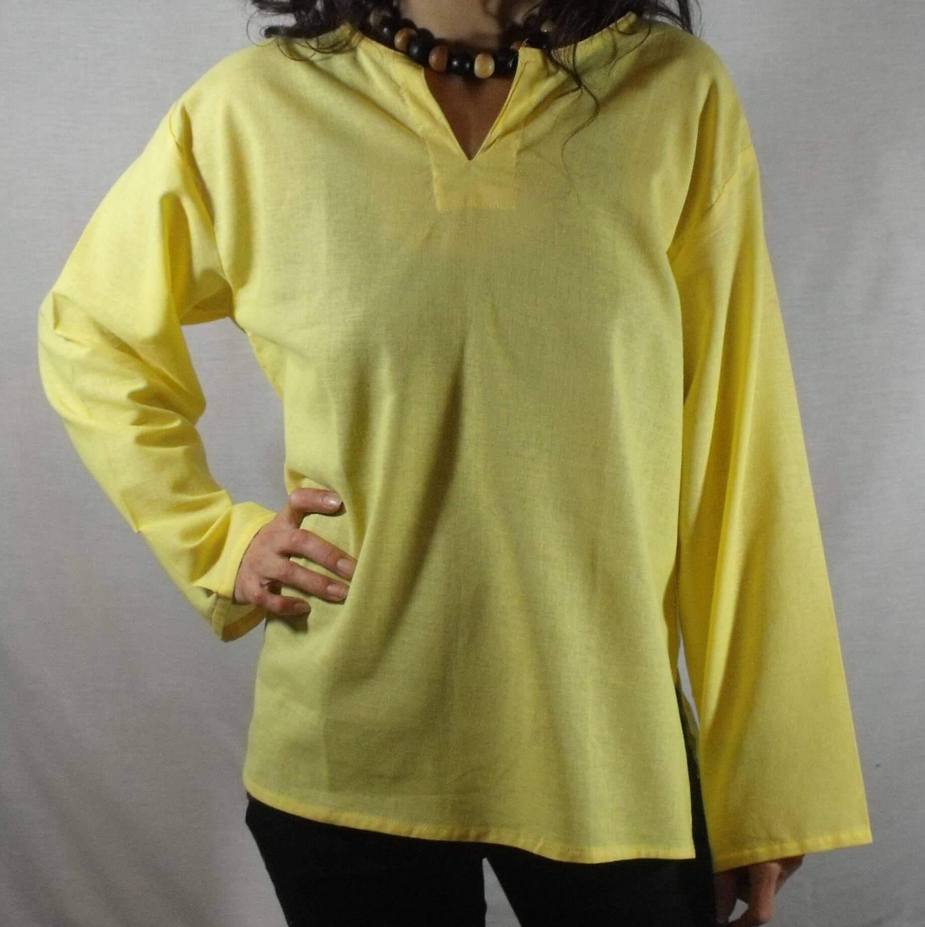 chemise yoga jaune