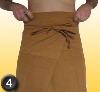comment mettre son pantalon thai - phase 4