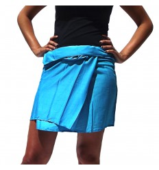 Rayon Short Thai Skirt - Sky Blue
