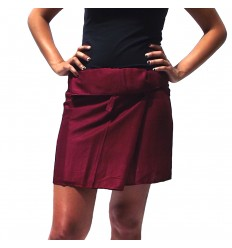 Rayon Short Thai Skirt - Burgundy
