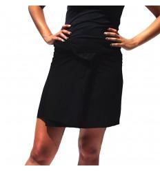 Rayon Short Thai Skirt - Black