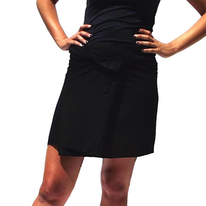 jupe thaïe courte rayonne noire