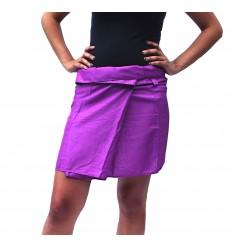 jupe thaïe courte rayonne violette