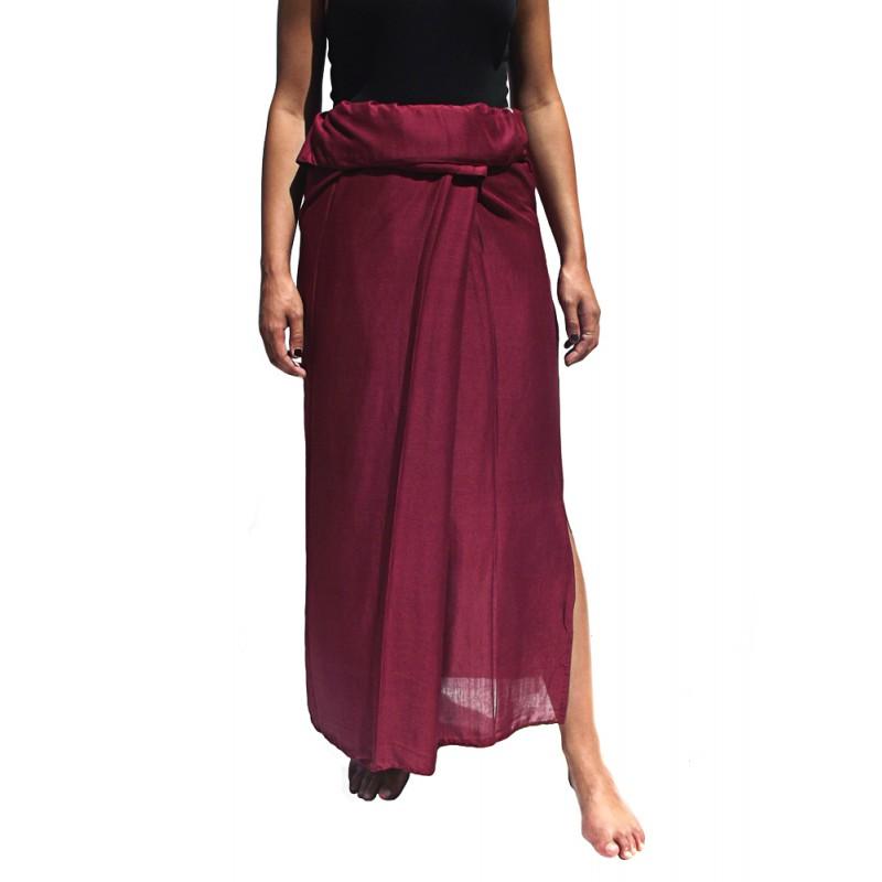 Burgundy rayon thaï skirt
