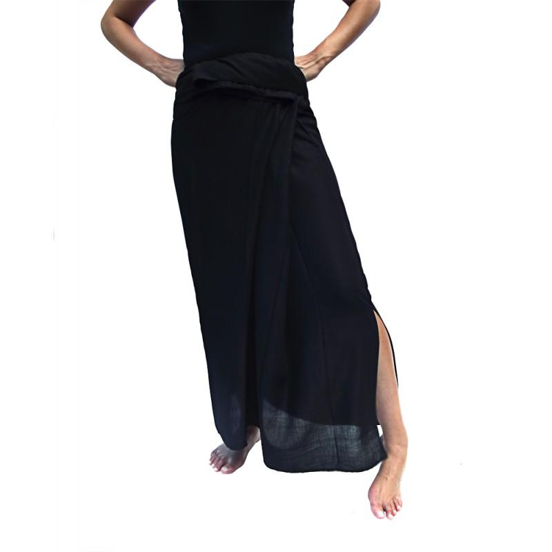 jupe thaïe rayonne noire
