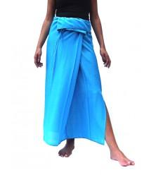 falda tailandesa rayon azul
