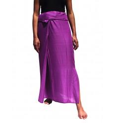 Falda Tailandesa Rayon Purpura