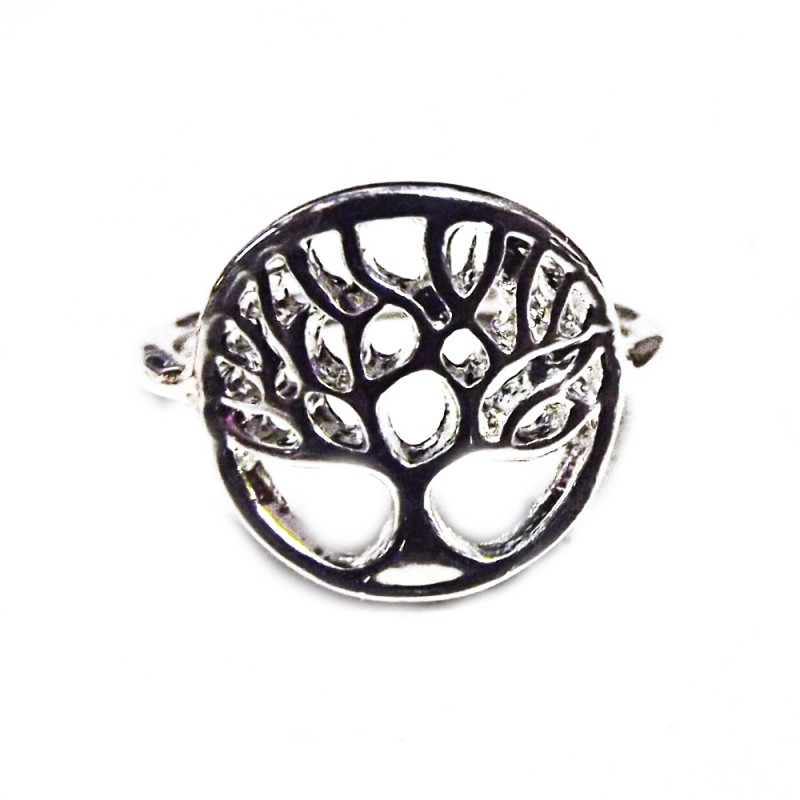 Metal Tree of Life Ring - silvered