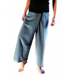 Pantalones Thai azul y negro