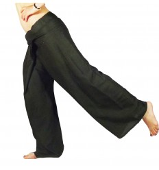 Black Rayon fisherman pants