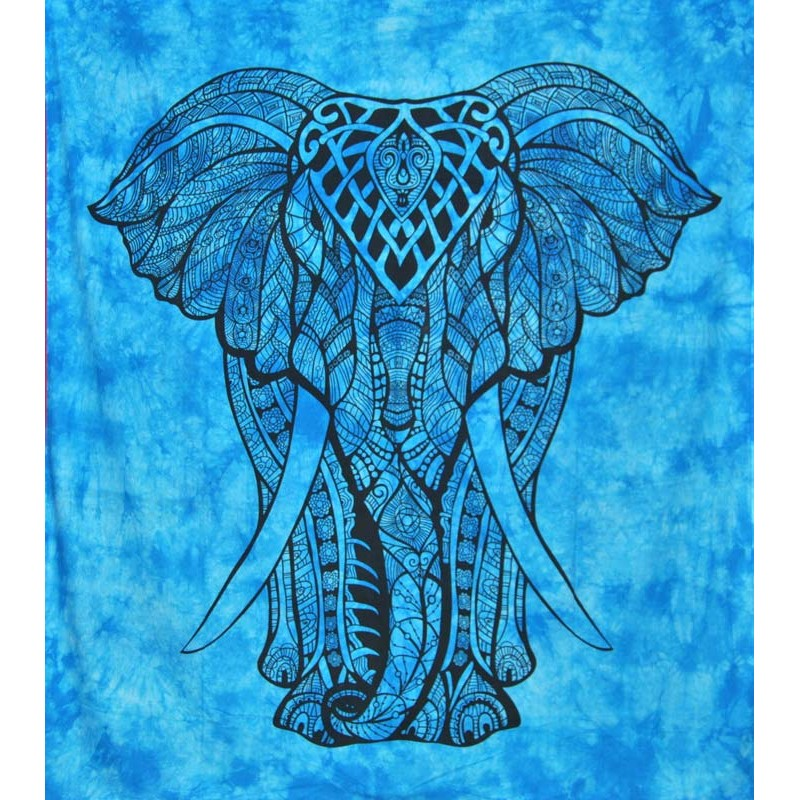 elephant blue large hanging