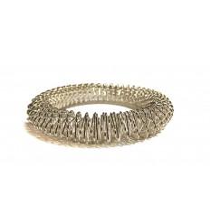 gros bracelet acupression argenté