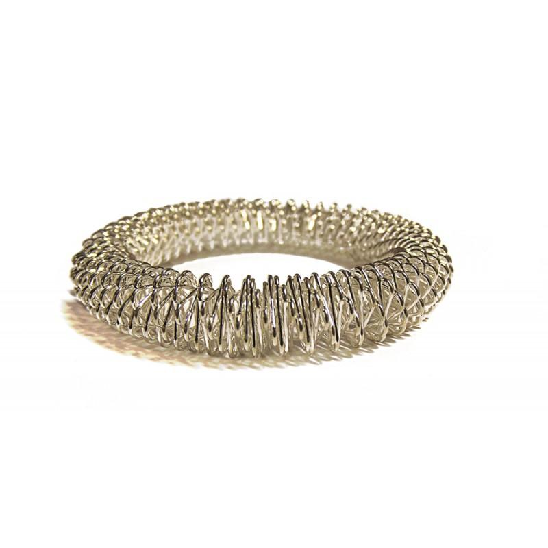 gros bracelet acupression argent