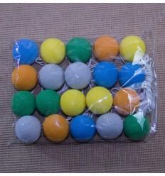 Lampara bolas de algodon multicolor