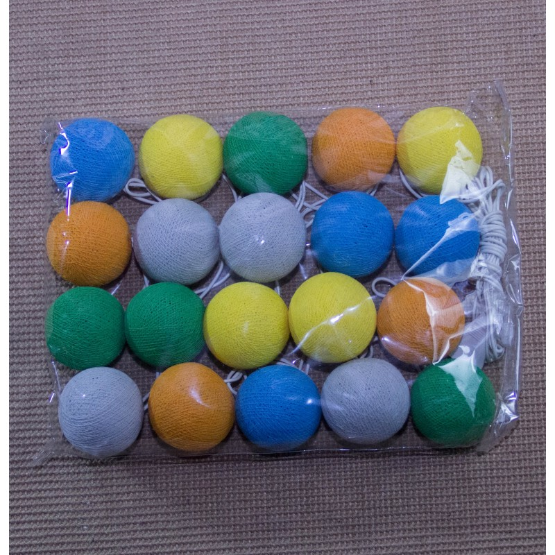 Lampara bolas de algodon