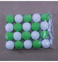 Lampara bolas de algodon verde