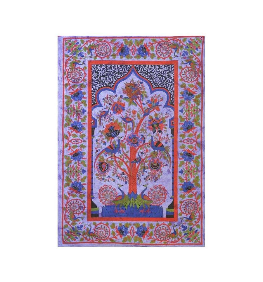 tenture arbre de vie violet - arasia