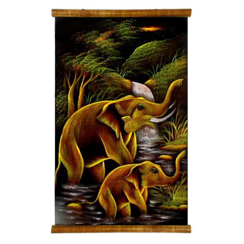 parchemin éléphants