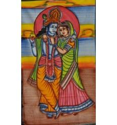 mini tapiz Radha y Krishna