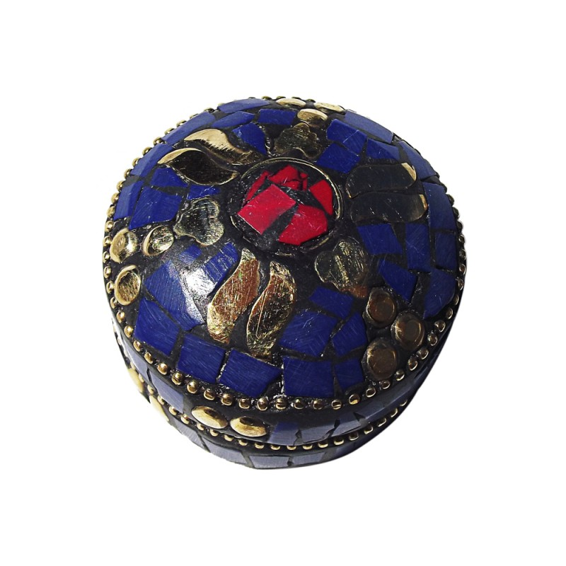 boîte tibétaine bleue