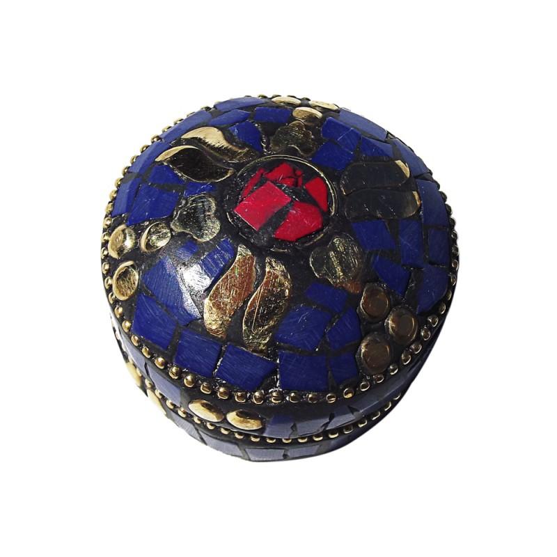 caja tibetana azul