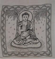 Grande Tenture Buddha blanche