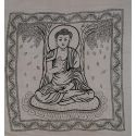Grande Tenture Bouddha blanche