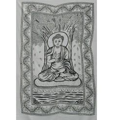 Tenture Bouddha blanche