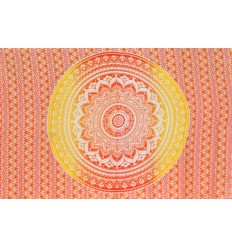 tenture murale mandala rouge