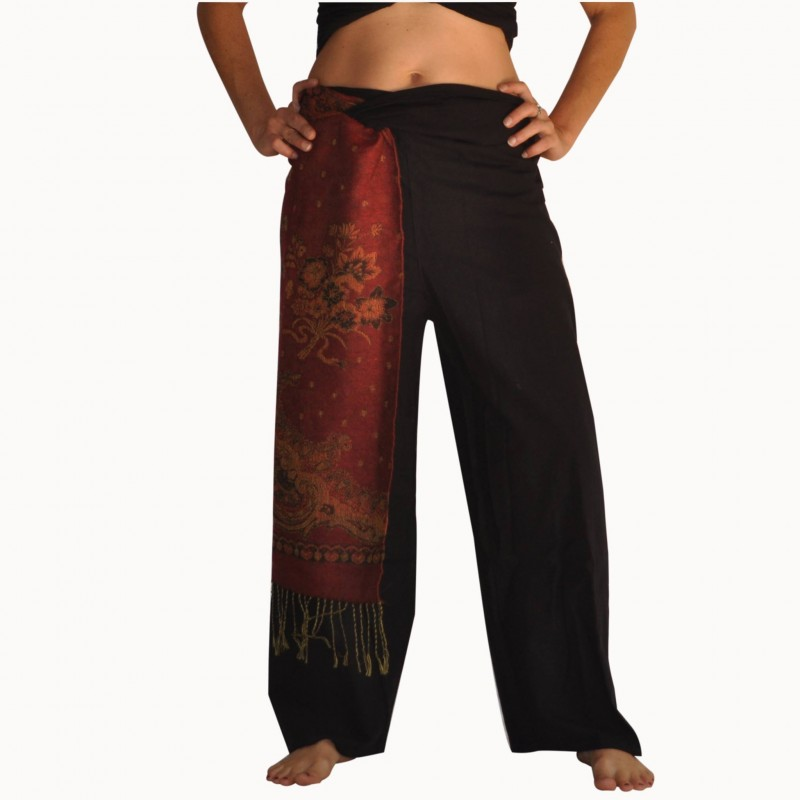 Pantalon Pashmina bordeaux