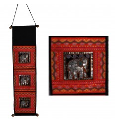 Red Wall-Hanging Storage