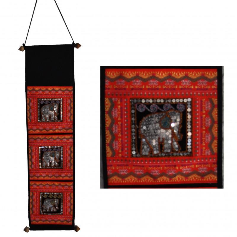 Red Wall-Hanging Storage