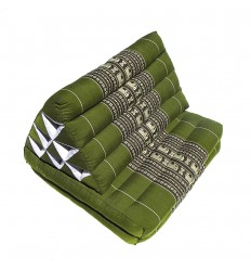 green Thaï Triangular Cushion Medium
