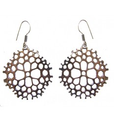 silvered earrings