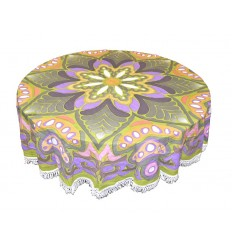 tapiz redondo flor
