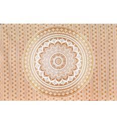 tapiz mandala blanco y moreno