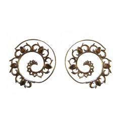 boucles d'oreille spirale indienne