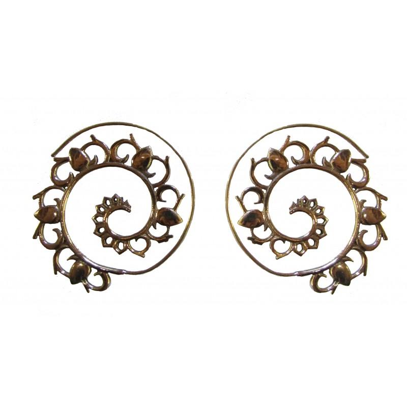 Indian Spiral Earrings
