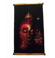 Parchemin Bouddha Rouge