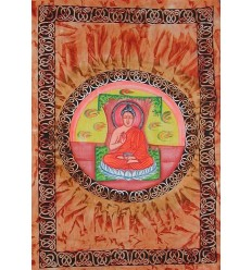 orange bouddha wall Hanging