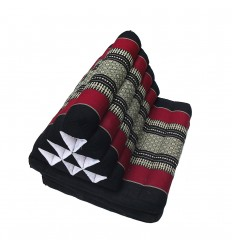 Black Thaï Triangular Cushion
