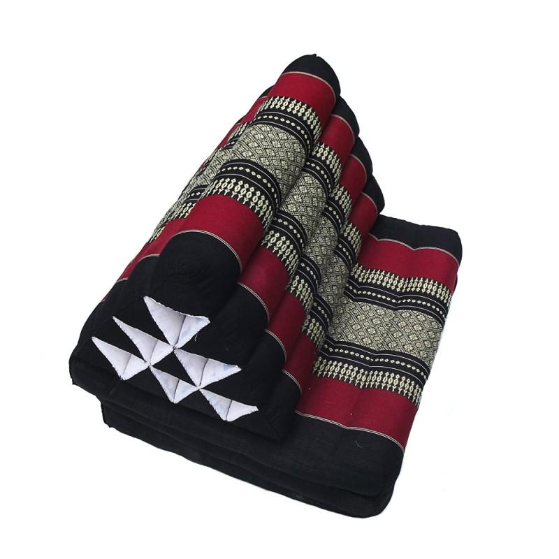 Black Thaï Triangular Cushion