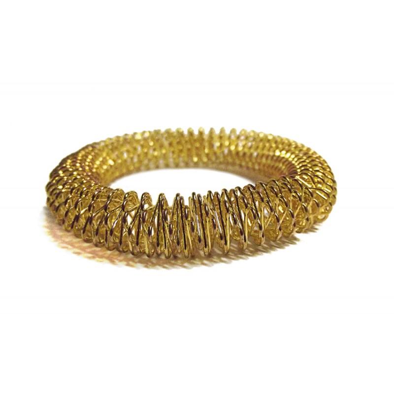 grande pulsera acupresion color oro