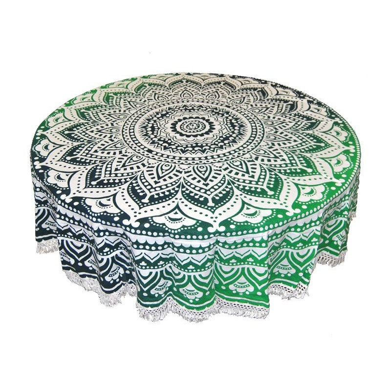 Green Round Tapestry