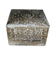 Bleached Wooden Box