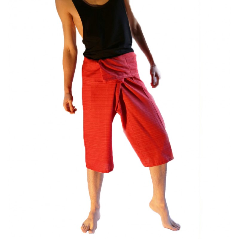 Red STRIPED CAPRIS
