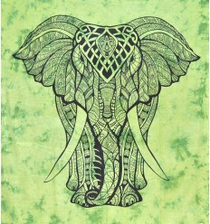 ELEPHANT green wall HANGING