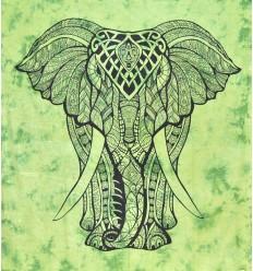 Tenture Murale Elephant Verte