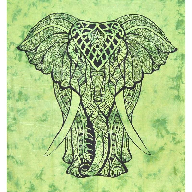 GREEN ELEPHANT LARGE HANGING