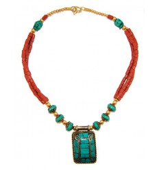 Rectangular Tibetan Necklace